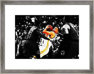Stephen Curry Stay Focused Framed Print by Brian Reaves