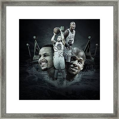 Stephen Curry X Ray Allen  Framed Print by Jake Barger