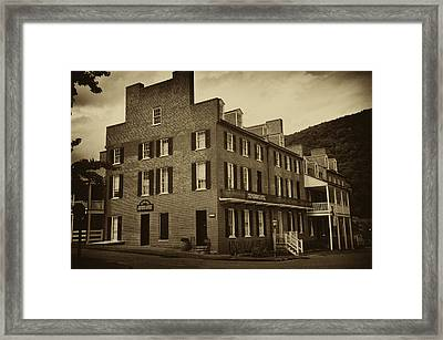 Stephensons Hotel - Harpers Ferry  West Virginia Framed Print by Bill Cannon
