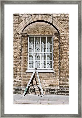 Stepladder Framed Print by Tom Gowanlock
