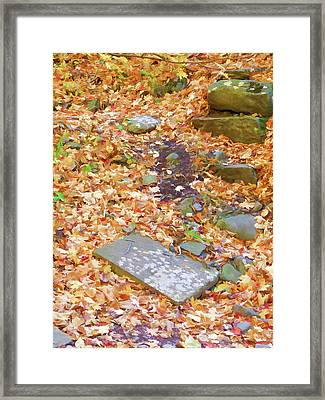 Stepping Stones  Framed Print by Lanjee Chee
