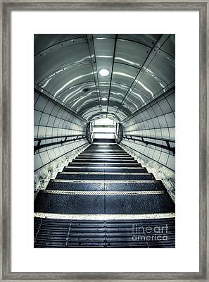 Steppings Tones Framed Print by Evelina Kremsdorf
