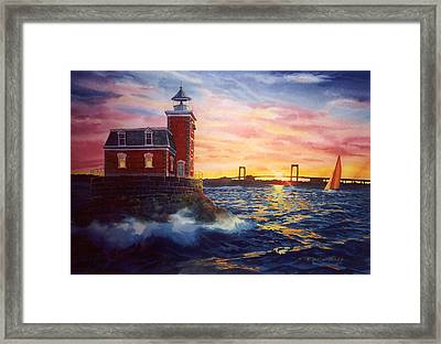 Steppingstones Light Framed Print by Marguerite Chadwick-Juner