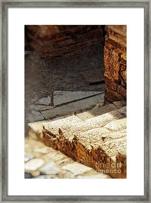 Steps Of Ephesus Framed Print by HD Connelly