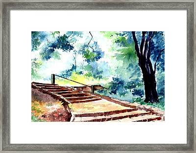Steps To Eternity Framed Print by Anil Nene