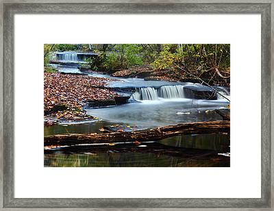 Stepstone Falls Framed Print by Andrew Pacheco