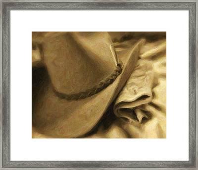 Stetson Framed Print by Tom Mc Nemar