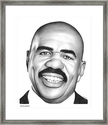 Steve Harvey Framed Print by Greg Joens
