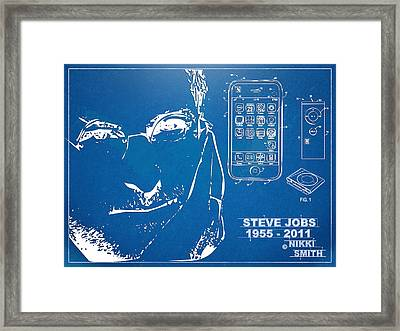 Steve Jobs Iphone Patent Artwork Framed Print by Nikki Marie Smith