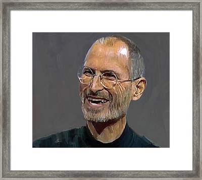 Steve Jobs Framed Print by Yury Malkov