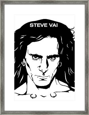Steve Vai No.03 Framed Print by Caio Caldas