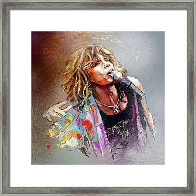 Steven Tyler 02  Aerosmith Framed Print by Miki De Goodaboom