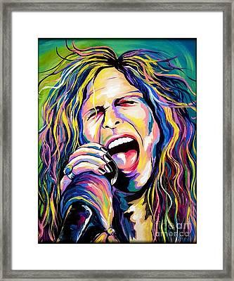 Steven Tyler Framed Print by Amy Belonio