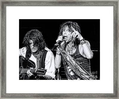 Steven Tyler Croons Framed Print by Traci Cottingham