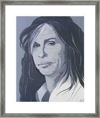 Steven Tyler Framed Print by Ken Jolly