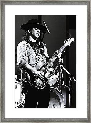 Stevie Ray Vaughan 1984  Framed Print by Chris Walter