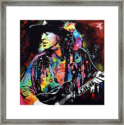 Stevie Ray Vaughan Framed Print by Dean Russo