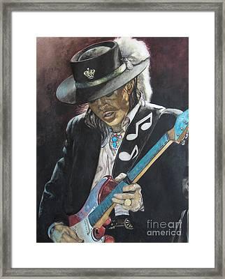 Stevie Ray Vaughan  Framed Print by Lance Gebhardt