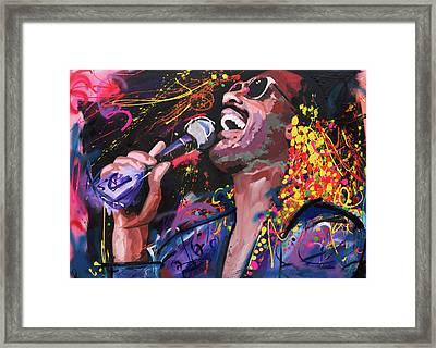 Stevie Wonder Framed Print by Richard Day