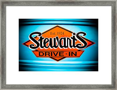 Stewart's Drive-in Sign  Framed Print by Colleen Kammerer