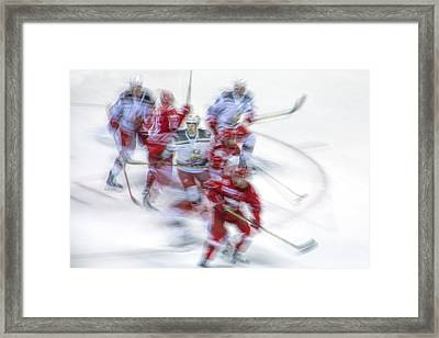 Sticks On The Ice Framed Print by Randall Nyhof