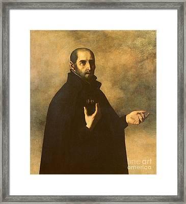 St.ignatius Loyola Framed Print by Francisco de Zurbaran
