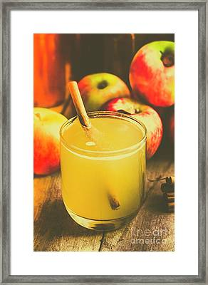 Still Life Apple Cider Beverage Framed Print by Jorgo Photography - Wall Art Gallery
