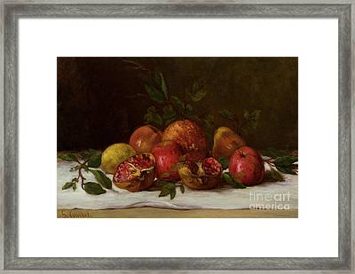 Still Life Framed Print by Gustave Courbet
