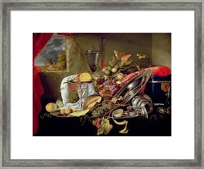 Still Life Framed Print by Jan Davidsz Heem