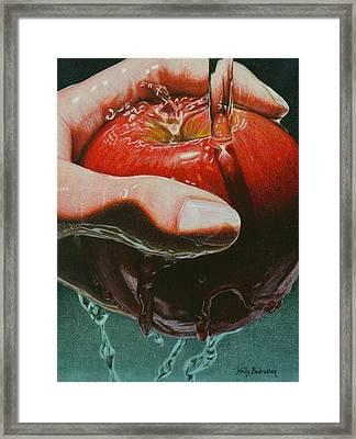 Still Life Sabotage Framed Print by Holly  Bedrosian