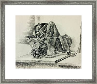 Still Life Sketch By Ivailo Nikolov Framed Print by Boyan Dimitrov