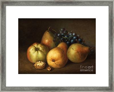 Still Life With Apples Framed Print by MotionAge Designs