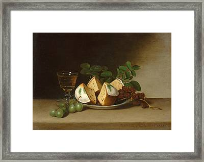 Still Life With Cake Framed Print by Raphaelle Peale