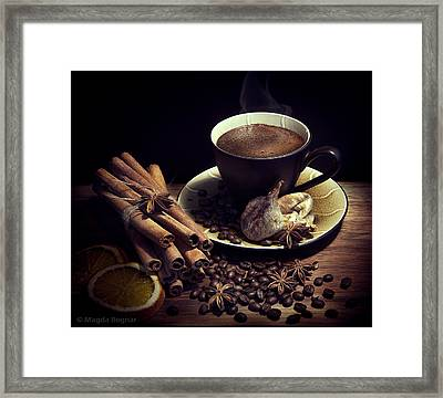 Still Life With Coffee Framed Print by Magda  Bognar