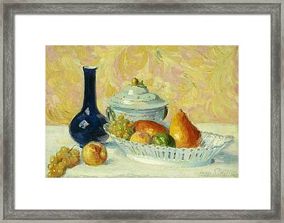 Still Life With Fruit    Nature Morte Aux Fruits Framed Print by Hippolyte Petitjean
