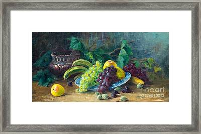 Still Life With Fruits Framed Print by Celestial Images