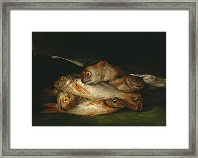 Still Life With Golden Bream Framed Print by Francisco Goya