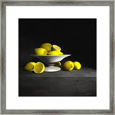 Still Life With Lemons Framed Print by Cynthia Decker