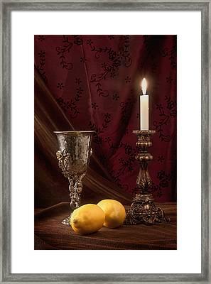 Still Life With Lemons Framed Print by Tom Mc Nemar