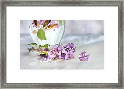Still Life With Lilacs Framed Print by Theresa Tahara
