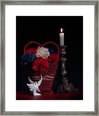 Still Life With Lovebirds Framed Print by Tom Mc Nemar