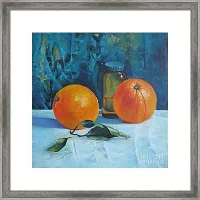 Still Life With Oranges Framed Print by Elena Oleniuc