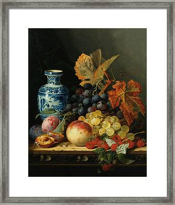 Still Life With Rasberries Framed Print by Edward Ladell