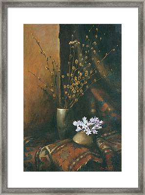 Still-life With Snow Drops Framed Print by Tigran Ghulyan
