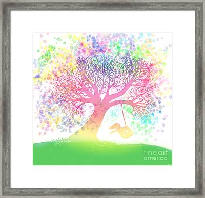 Still More Rainbow Tree Dreams 2 Framed Print by Nick Gustafson