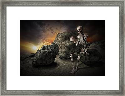 Still Thinking After All These Years Framed Print by Randall Nyhof