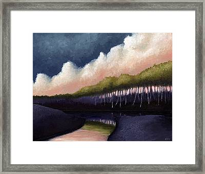 Stillwater Convergence Framed Print by Ethan Harris
