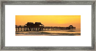 Stilt Houses On The Pier, Gulf Framed Print by Panoramic Images