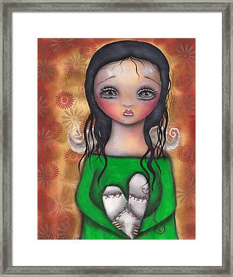 Stitched Up Love Framed Print by  Abril Andrade Griffith