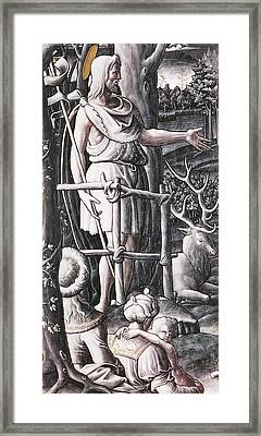 St.john The Baptist Preaching In The Wilderness Framed Print by Unknown